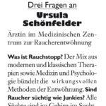Drei Fragen an Ursula Schönfelder